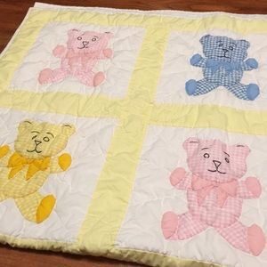 THIS IS A 4'6 x 3'5 APPROX. HANDMADE BABY QUILT